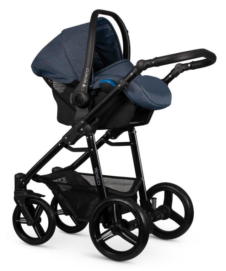 Venicci Soft Denim Blue Car Seat Black Frame