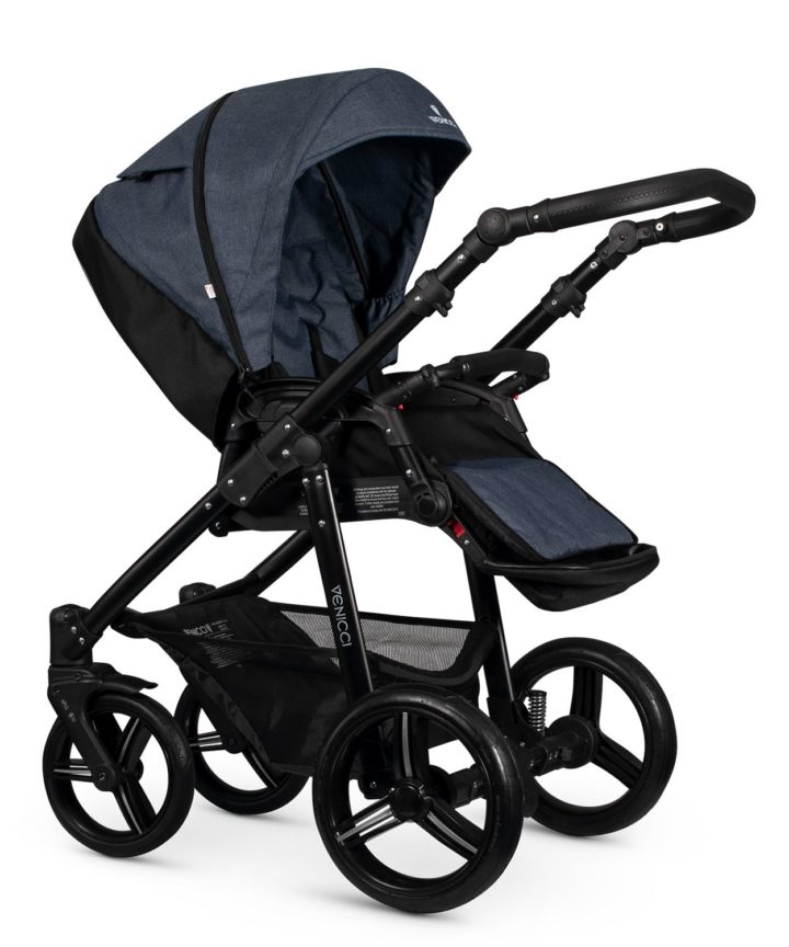 Venicci Soft Denim Blue Seat Unit Black Frame