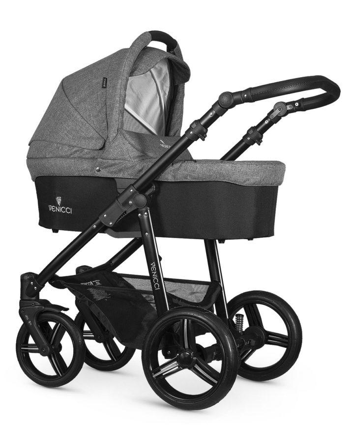Venicci Soft Denim Grey Seat Unit Black Frame