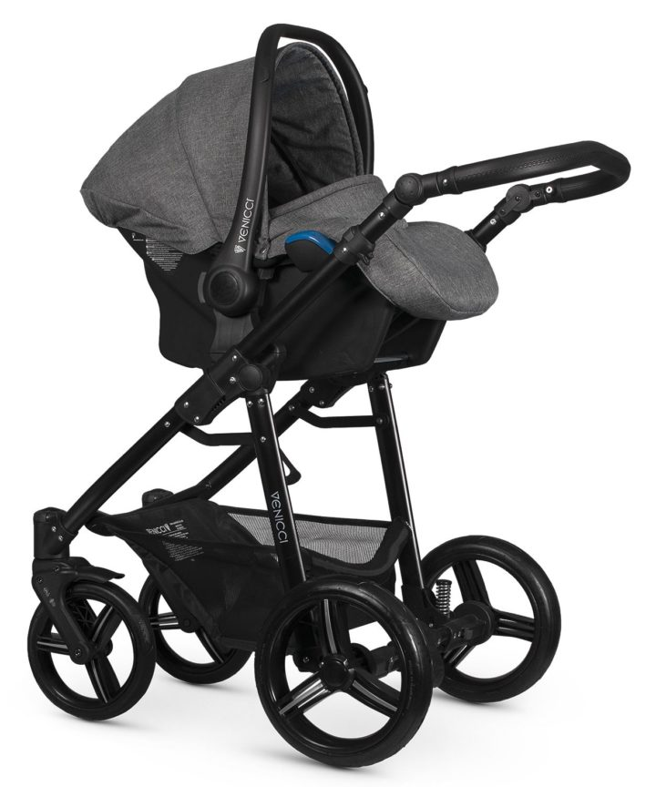 Venicci Soft Denim Grey Car Seat Black Frame