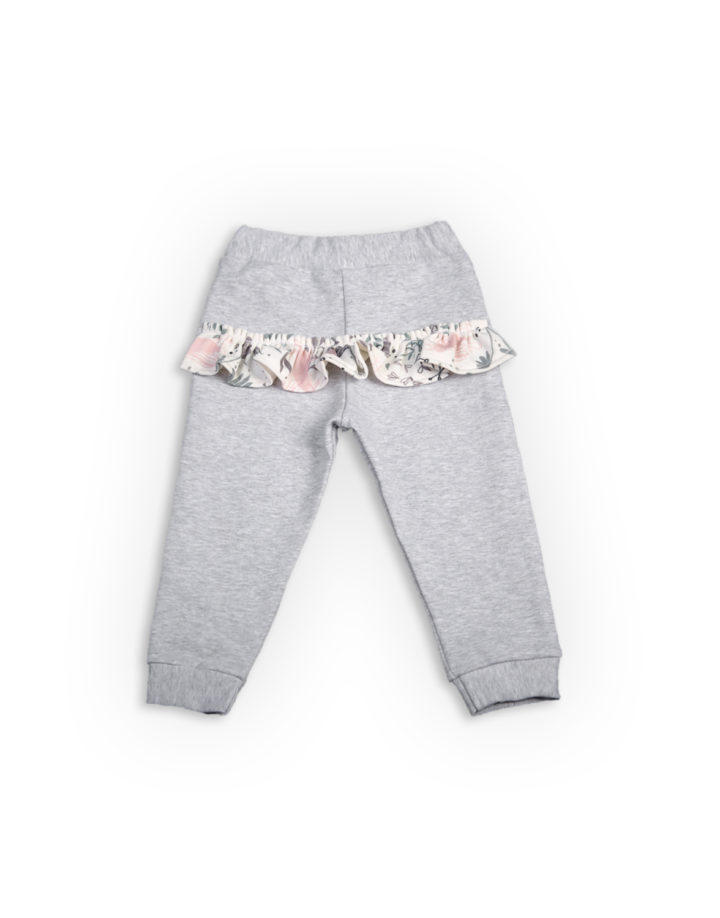 Frill Trousers Pink Birds