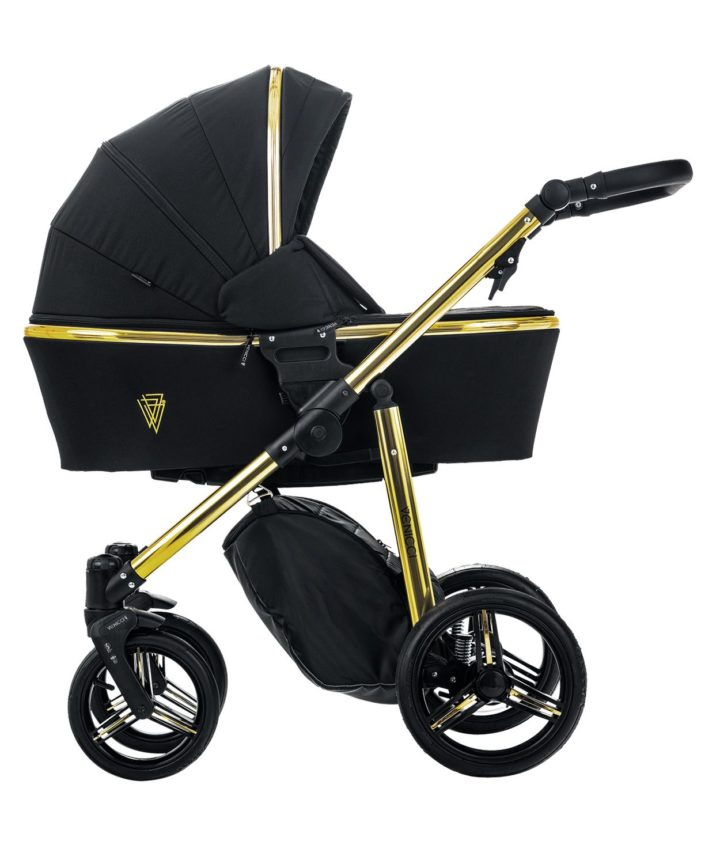 Venicci Gold Black Carry Cot