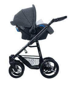 Venicci Pure Denim Black Car Seat Black Frame