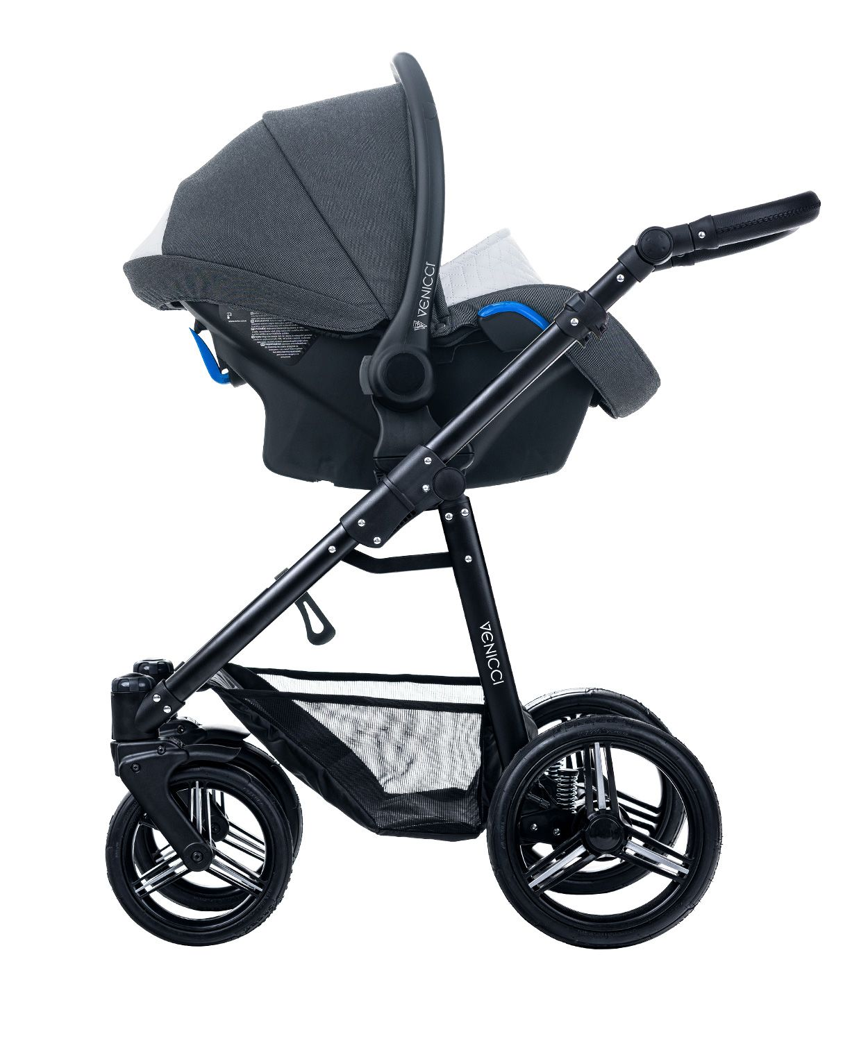Venicci Pure Denim Black Car Seat Frame