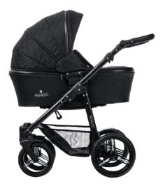 Venicci Shadow 3V Black Carry Cot