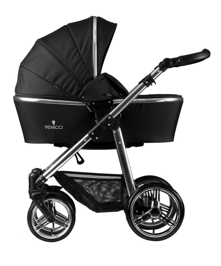 Venicci Silver Black Carry Cot