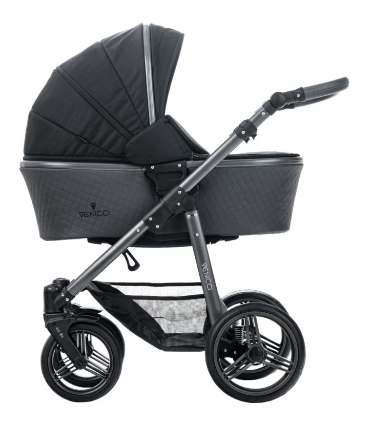 Venicci Carbo Black (LUX) Carry Cot