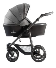 Venicci Carbo Denim Grey Carry Cot