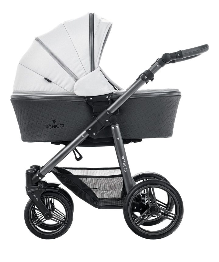Venicci Carbo Light Grey (LUX) Carry Cot