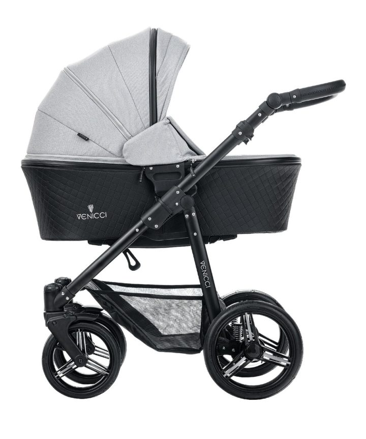 Venicci Shadow Dusty Grey Carry Cot