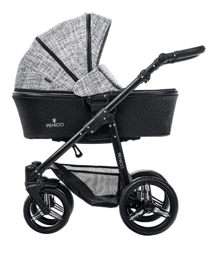 Venicci Shadow Fashion Black Carry Cot