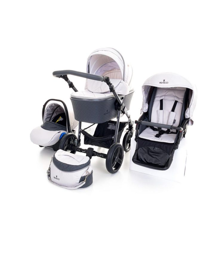 Venicci Carbo Light Grey (LUX) 3in1 Travel System