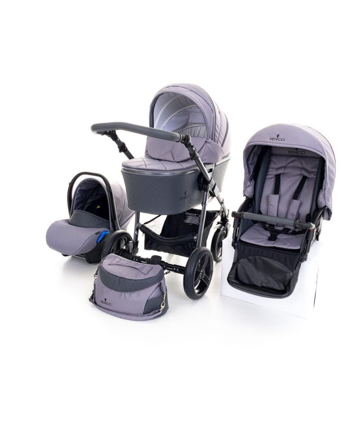 Venicci Carbo Natural Grey (LUX) 3in1 Travel System