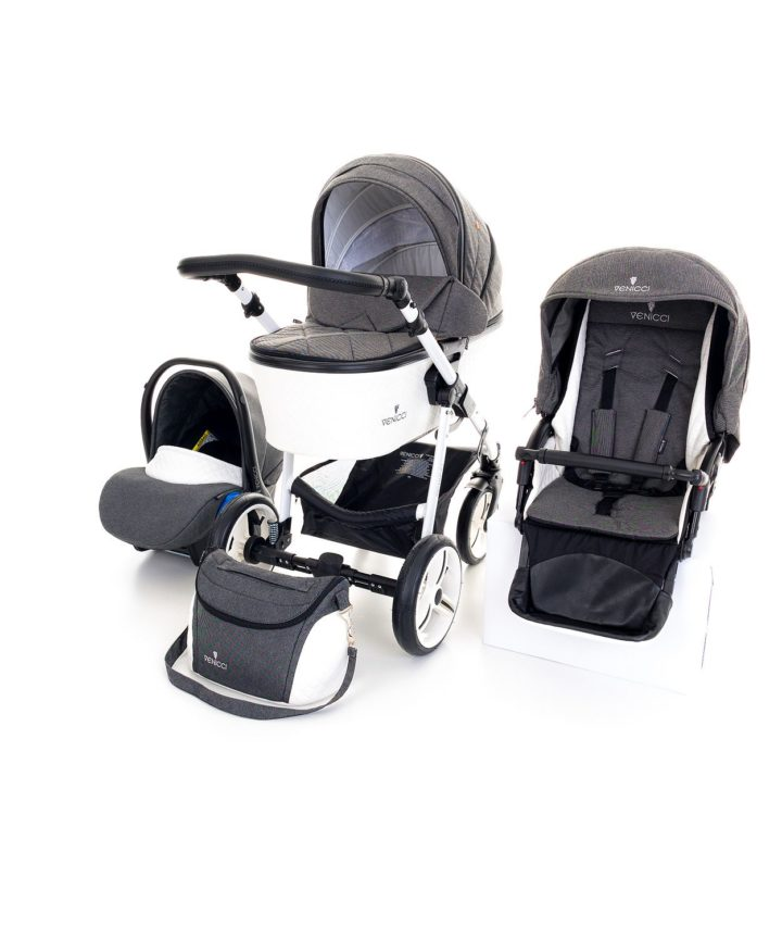 Venicci Pure Denim Black 3in1 Travel System