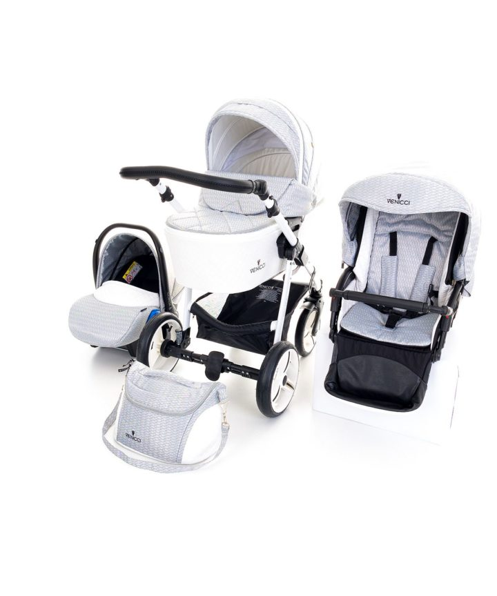 Venicci Pure Stone Grey 3in1 Travel System