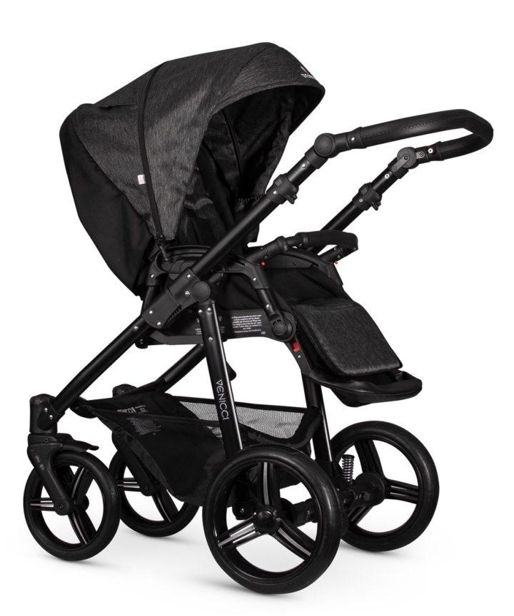 Venicci Soft Denim Black Seat Unit Black Frame