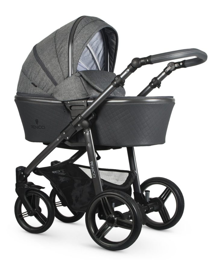 Venicci Carbo Denim Grey (LUX) Carry Cot